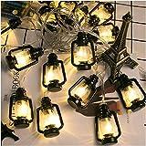 Jahreszeitentisch Schnur-Licht Neue Batteriebetriebene leuchten Laterne Hängen Camping Kerosene...