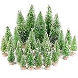 MEJOSER 30 Stück 4 Größen Künstlicher Weihnachtsbaum Miniatur Klein Tisch Christmasbaum Mini...