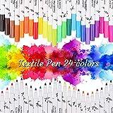 OUTOPE Textilstifte, Textilstifte Waschmaschinenfest, Wasserfeste Textilmarker, Waschfeste...