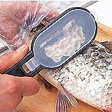 XshuaiRTE Fischschuppen-Entferner, Edelstahl, für schnelles Ablösen Fischentschupper,Fisch Scaler...