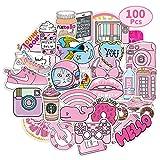 Coolba Aufkleber Mädchen Rosa, Sticker Vsco Dekorative Aufkleber für Wasserflaschen,Laptop...