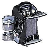 Beschoi Kamerarucksack wasserdicht Fotorucksack mit Laptopfach fr DSLR Kamera und Zubehr