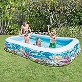 PP Rechteckige Pool Familie Pool for Kinder 305  183  56 cm inkl 1 X Reparatur-Patch Familie...