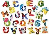 INDIGOS UG - Holzbuchstabe - A - für Kinder und Babys - Motiv Tiere für das Kinderzimmer, Schule,...