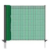 VOSS.farming Gartennetz Universal Begrenzungszaun Classic 20 m Premium, 80 cm, 12 Pfähle,...