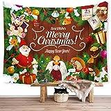 WBTY 130 x 150 cm Weihnachtsbaum Tapisserie Weihnachtsmann Hintergrund Tuch Multifunktionale...