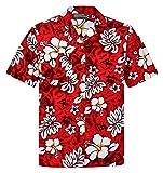 Hawaiihemdshop Hawaiihemd   Herren   Baumwolle   Größe S - 8XL   Kurzarm   Hawaiihemden   Blüten...