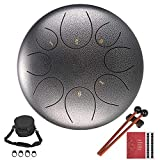 jinclonder Upgraded Steel Zungentrommel, Handpan Drum Lotus Drum Percussion Instrument mit Tasche...