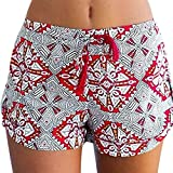 Dasongff Damen Hot Pants Sommer Shorts Hohe Taille Kurze Hosen Bhmen Drucken Bikinihose Strandshorts...