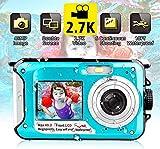 Unterwasserkamera wasserdichte Digitalkamera Unterwasserkamera FHD 2.7K 48MP Videorecorder Camcorder...