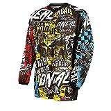 O'NEAL | Motocross-Shirt Langarm | Kinder | MX MTB Mountainbike | Leichte Materialien, Eingenähte...