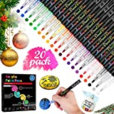 RATEL Acrylstifte Marker Stifte, 20 Farben 0.7mm Detail Malstift Permanent Marker,...