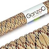 Paracord 550 Seil Camouflage   31 Meter Nylon-Seil mit 7 Kern-Stränge   für Armband   Knüpfen von...