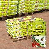 Kölle Bio Tomaten- und Gemüse-Erde torffrei, 39 Sack á 20 l, Palettenware ohne zusätzliche...