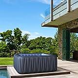 Whirlpool MSpa aufblasbar für 6 Personen SPA 185x185cm In-Outdoor Pool 132 Massagedüsen Timer...