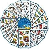 AVERY Zweckform 524 Sticker für Kinder (Aufkleber Jungen, Kindersticker, Fußball, Traktor,...