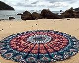 raajsee Indien Strandtuch Rund Mandala Hippie/Groß Indisch Rundes Baumwolle/Boho Runder Yoga Matte...