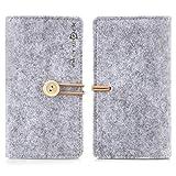 Alienwork Schutzhülle für 3.5-4.7 Zoll Smartphone Stoßfest Brieftasche Hülle Case Portemonnaie...
