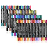 Entweg 80 Farben/Set Marker Marking Pen Twin Tip Pinsel Sketch Stifte Wasserbasierte Tinte fr Grafik...