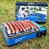 Angel DomneButangas Camping Grill Evergrill mit Transportkoffer | Gasgrill BBQ Barbeque Tischgrill...