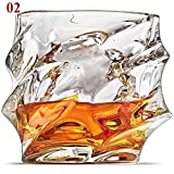 SMNHSRXH Whisky gläser Clear Crystal Whisky-Glas Glas for Whisky-Bier Trinkbecher Weinglas...
