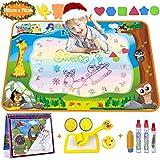 Aqua Magic Doodle - Wasser Doodle Matte 100*70cm Kinder, Große Magic Malmatte mit Wasser Buch , 4...