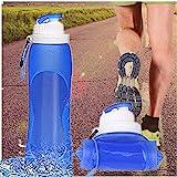 KEAN Zusammenklappbare Silikon-Wasserflaschen – 500 ml Medizinische Qualität...