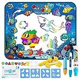 Jooheli Wasser Doodle Matte,100 x 80cm Kinder Zaubertafel Malmatte Mit Wasserstift Wasser Zeichnen...