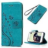 YOKIRIN iPhone 7 Hlle Case, iPhone 7 Tasche PU Leder Handytasche Handyhlle Premium Blumen...