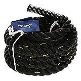 TOMSHOO Battle Rope 10M X 38MM Schwungseil Länge Trainingsseil Sportseil Schlagseil