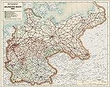 Die Eisenbahnen im Deutschen Reich 1914 - Eisenbahn-Übersichtskarte: Restaurierter Reprint der...