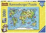 Ravensburger Kinderpuzzle 10595 - Mäuseschlau & Bärenstark Reise um die Welt 100 Teile XXL -...