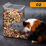 Perfuw Hamster-Futterspender, automatischer Futterautomat, große Kapazität, transparent,...