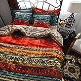 Qucover Bettwäsche 155x220cm 100% Baumwolle Bettbezug mit Reißverschluss 155 x 220 cm 2 TLG. mit...