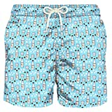 mc-safety MC2 Saint Barth Badehose Boxer Herren, Mod. Lighting Micro-Fantasy Sambuca Molinari 31 - S