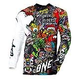 O'NEAL | Mayhem Crank | MX Jersey Trikot | Motocross Shirt | Schwarz/Multi 2020 | Größe: L (52/54)