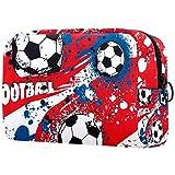 Kosmetiktasche für Damen, abstrakte französische Fußball-Sport-Ball, Farbmuster, niedlich,...