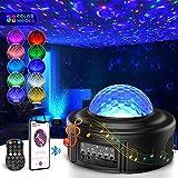 LED Sternenhimmel Projektor,Tesoky 360° Drehen Ozeanwellen Projektionslampe LED Starry Projector...