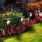 Leolee Solarlampen für Außen, [4 Stück] Solarleuchten Garten Warmweiß LED Solar Strahler 2 Modi...
