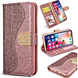 Stand Funktion fr Samsung A50 A50S A30S,Leder Bling Glitter Glitzer Diamond Love Hearts Musterg Slim...
