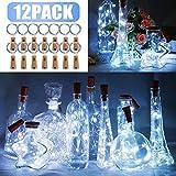 12 Stck LED Flaschenlicht, BIG HOUSE 20 LEDs 2M Lichterkette Kupferdraht batteriebetriebene...