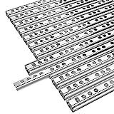 Yaheetech 6 Paar Schubladenschienen Teilauszug Rollenauszug 278 x 17 mm,Teleskopschiene...