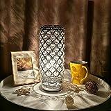 Kristall Tischleuchte,Tischlampe Tomshine Nachttischlampe,Tischleuchte mit 110 K5-Kristall für...