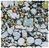 Brandsseller Duschmatte ca.53x53 cm Duscheinlage Badewanneneinlage Druckdesign - Steine