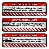 Finest-Folia 3X GPS Aufkleber Fahrrad Motorrad Auto Alarm Warnung Anti Diebstahl Sticker Tracker...