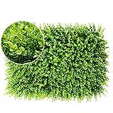 XEWNEG Grüner Künstlicher Boxwood Panels, Topiary Heckenpflanze Privacy Screen UV-Schutz-Zaun...