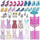 ExH Kleidung und Accessoires für Barbie-Puppe, süßes Mädchen Puppenzubehör süßes Kleid High...