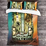 LZMM 3-teiliges Set Hollywood Past Bedding Duvet Cover Zipper Closure 3D Printing Bed Set 3 Pieces...