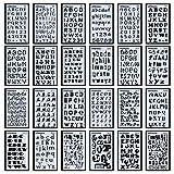 Buchstaben- und Zahlenschablonen, 24 Stück, für Bullet Journals, DIY-Scrapbooking, Malerei,...