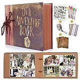 MMTX DIY Scrapbook Fotoalbum, Our Adventure Book Gästebuch Album für Reise Valentinstag Hochzeit...